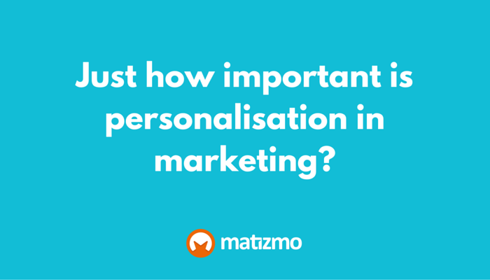 Personalisation in marketing